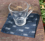 Blue Static Ikat Cloth Napkin- Set of 2