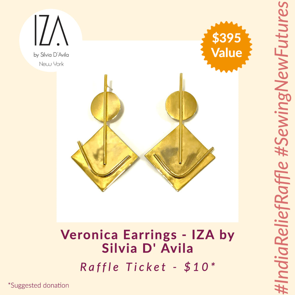 Veronica Earrings - IZA by Silvia D'Avila (India Relief Raffle)