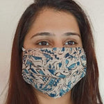 kalamkari print  face mask handsewn in India by the NGO Sewing New Futures.