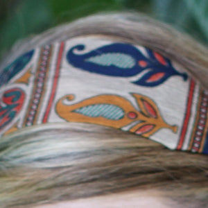 Tan Tribal Sari Tie Headband