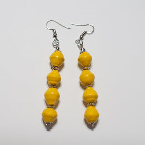 Ugandan 4 paper bead earrings