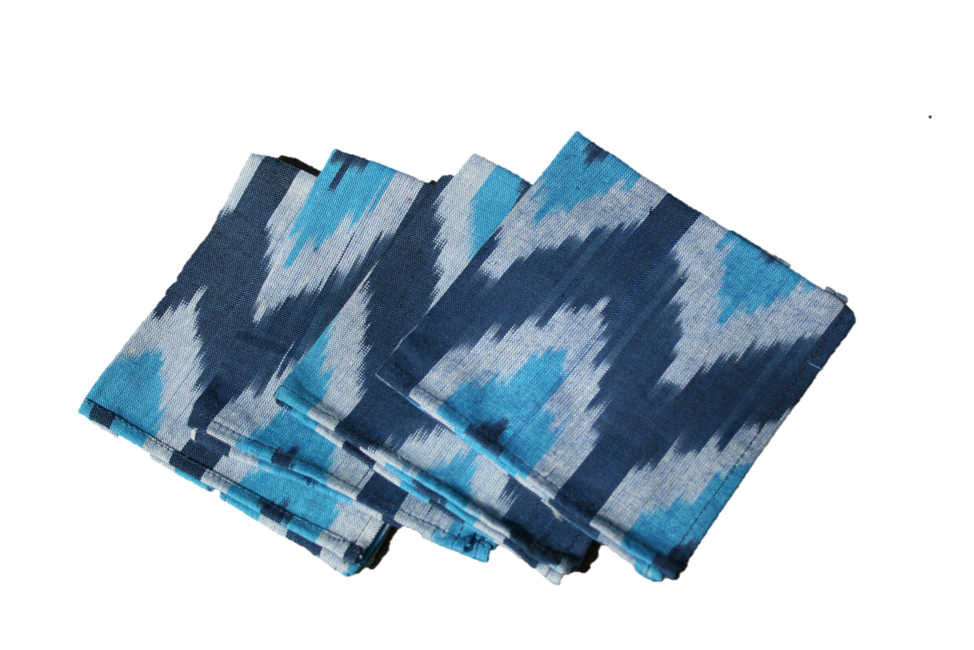 Indigo Eye Ikat Napkin- Set of 2