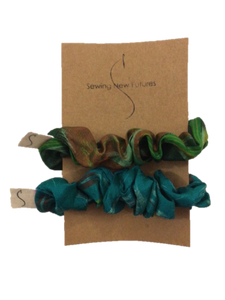 Scrunchie Set- Greens