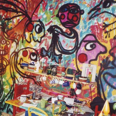 graffiti-painted-kitchen-wall