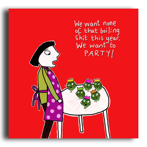 Party Sprouts Christmas card (CRC07)