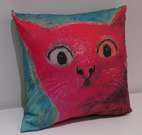 Startled Cat cushion