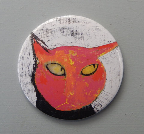 Sly Cat fridge magnet