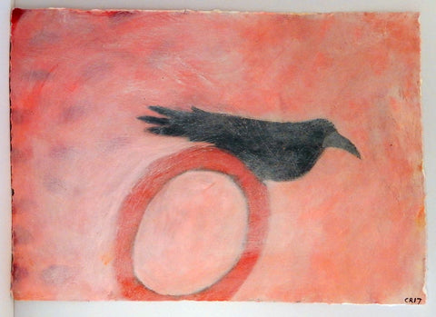 'Ghost Bird' acrylic painting on paper