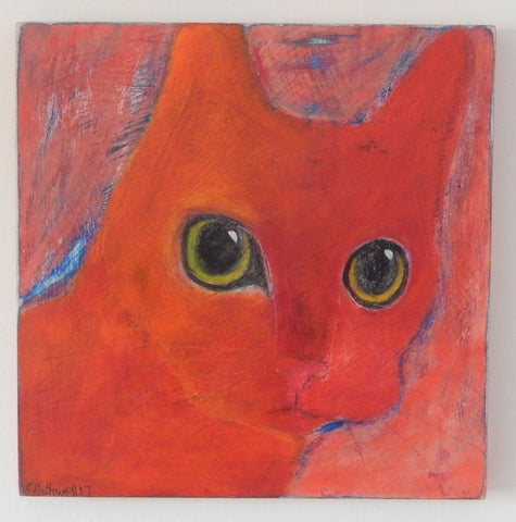 'Big Eyes Cat' original painting