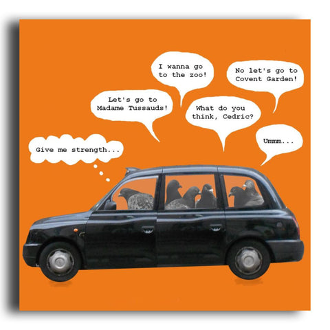 Black Cab greeting card (CR61)