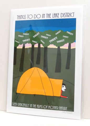 'Camping' Lake District print