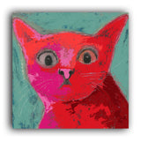 Startled Cat art print
