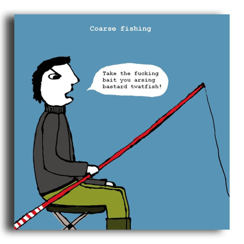 Coarse Fishing greeting card (CR45)