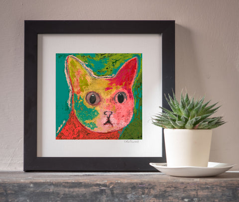 Curious Cat art print