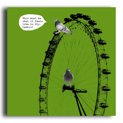 London Eye greeting card (CR68)