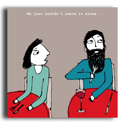 Beard Grooming greeting card (CR43)