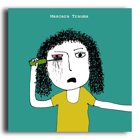 Mascara Trauma greeting card (CR19)