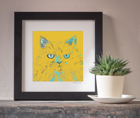 Miffed Cat art print