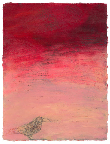 'Storm Bird I' acrylic painting on paper