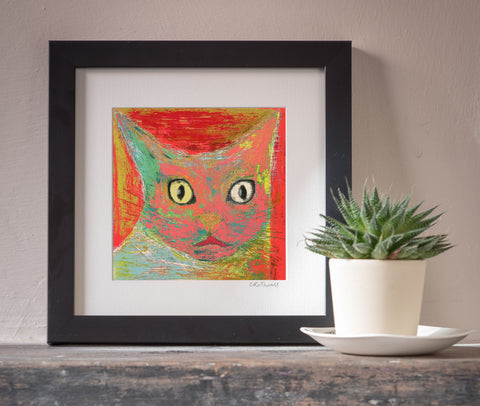 Shocked Cat art print