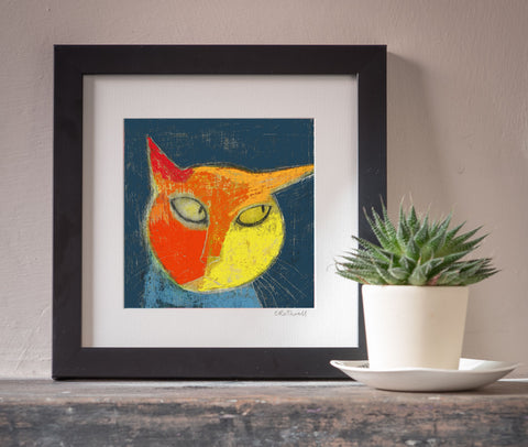 Sly Cat art print