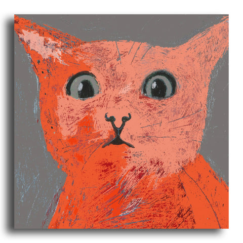 Surprised Cat greeting card