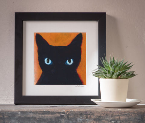 Watchful Cat art print