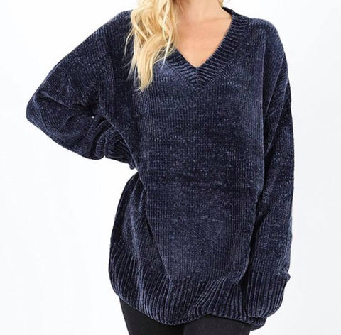 Bailey VNeck Chenille Sweater - Oh, Darlin'