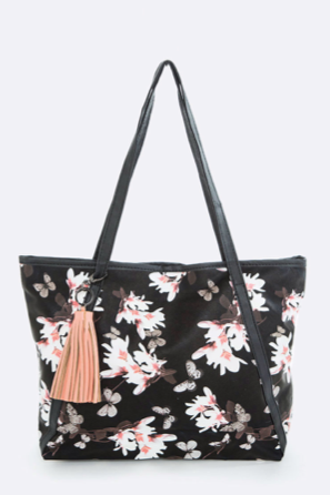 Ashton Flower Butterfly Tote Bag - Oh, Darlin'