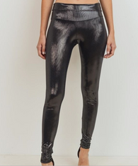 Lissa Faux Metallic Leather Leggings - Oh, Darlin'