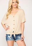 Doorbuster Button Down Top -- Blush