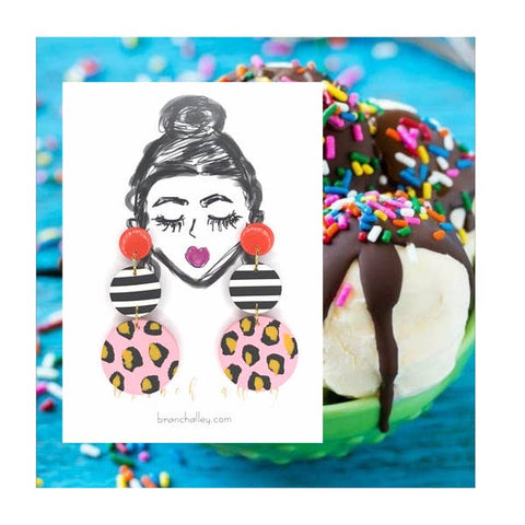 Ice Cream Sundae Drop Dangle Earring - Oh, Darlin'