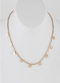 Valerie Beaded Disc Necklace - Oh, Darlin'