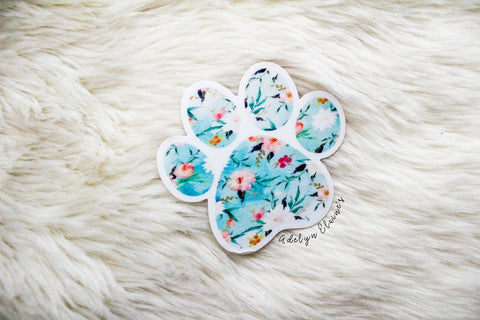 Floral Paw Print Sticker - Oh, Darlin'