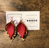 JoJo Double Warn Leather Drop Earrings - Oh, Darlin'