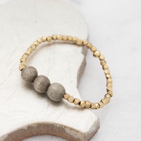 Bubble Layering Bracelet 4mm Stone + Stick - Oh, Darlin'
