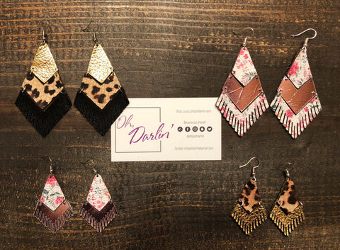 Floral Fringe Earrings - Oh, Darlin'