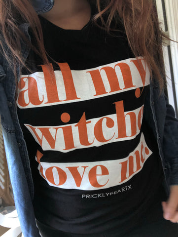 All My Witches Love Me VNeck Tee