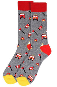 Novelty Mens Socks - Firemen