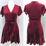 Madelyn Velvet Wrap Dress - Oh, Darlin'
