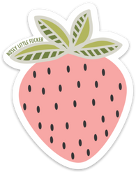 Strawberry Nosey Little Effer Sticker