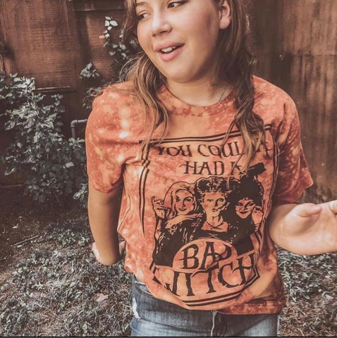 Coulda Had A Bad Witch Distressed Tee - Oh, Darlin'