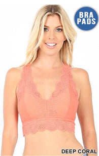 Ember Lace Racerback Bralette Padded - Oh, Darlin'
