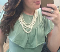 Betty Stacked Pearl Necklace - Oh, Darlin'