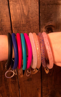 Silicone Thick Bangle Keychain Bracelet