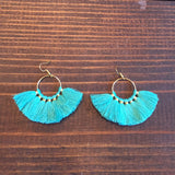Blakeley Hoop Tassel Earrings - Oh, Darlin'