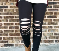 Aria Knee Cut Out Leggings - Oh, Darlin'