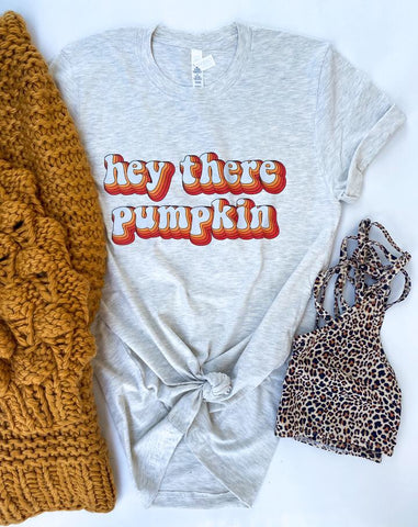Hey There Pumpkin Retro Adult Tee - Oh, Darlin'