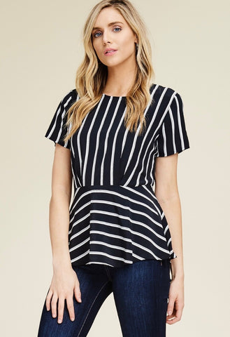 Nicole Striped Top - Oh, Darlin'