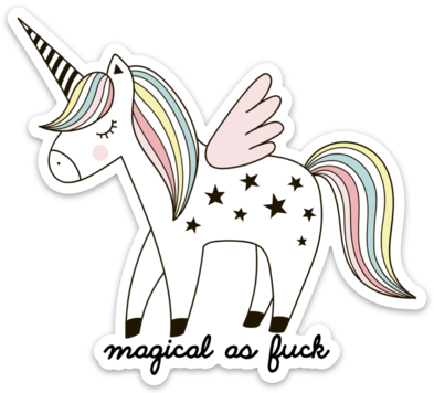 Magical As Fuck Sticker